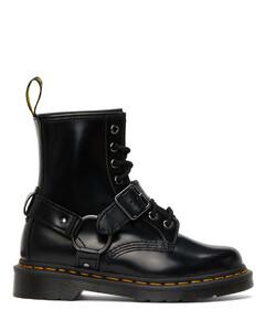 黑色1460 Harness踝靴