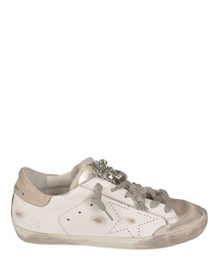 Crystals Superstar sneakers in white