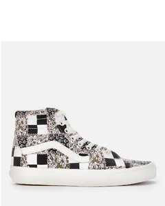 Women's Patchwork Floral Authentic SK8-Hi Trainers - Multi/Marshmallow