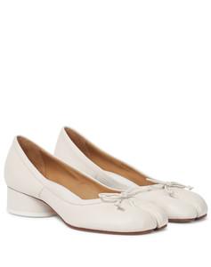 Tabi皮革芭蕾舞高跟鞋