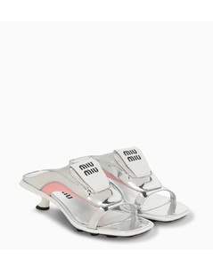 Sandal flip flops in metal tech