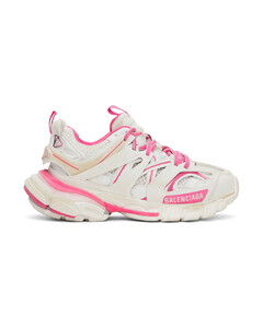 白色&粉色Track运动鞋