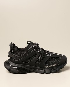 Track sneakers in synthetic leather and nylon