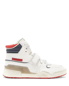 Alsee high-top distressed-leather trainers
