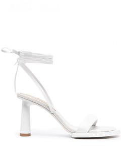 Les Carre Rond Leather Sandals