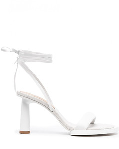 Les Carre Rond Leather Sandals