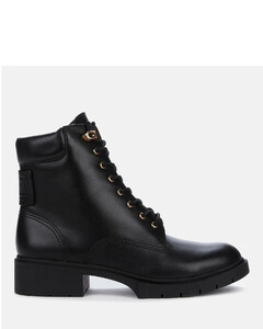 Women's Lorimer Leather Lace Up Boots - Black