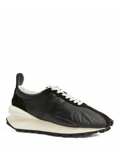 Leather and Mesh Bumper Sneakers