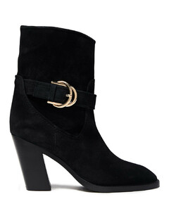 Woman Virgo Buckled Suede Ankle Boots