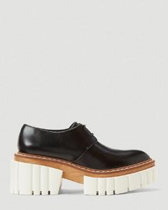 Emilie Faux-Leather Platform Shoes in Black