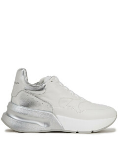 Woman Runner Two-tone Leather Sneakers