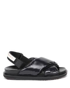 Criss-cross padded sandals