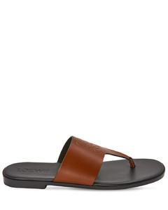 10mm Anagram Leather Thong Sandals