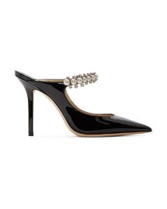 黑色Bing漆皮高跟鞋
