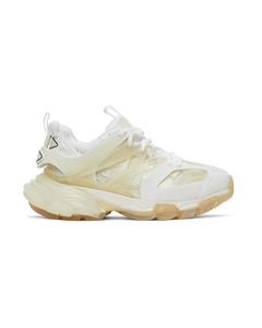 白色Track Clear Sole运动鞋