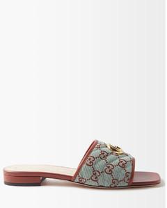 缀饰皮革乐福鞋