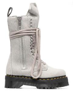 Triple S Sneakers in Black Mesh
