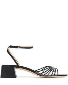 Woman Anna Pvc-trimmed Leather Sandals