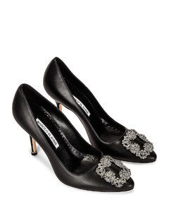 Hangisi 105 Nappa Heel in Black
