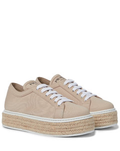 Canvas flatform sneakers