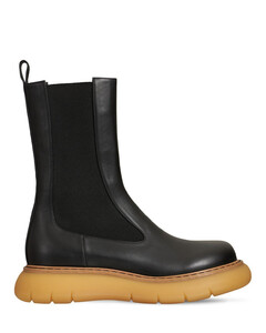 Women's Mid Leather Chelsea Boots - Black