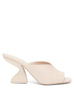 F-heel nappa-leather mules