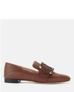 Women's Janelle-Torchon Leather Loafers - Cuero