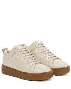 厚底皮革运动鞋
