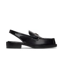 黑色蛇纹露跟乐福鞋