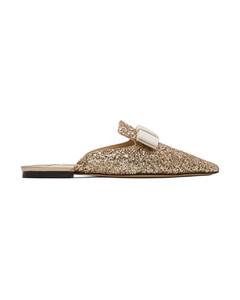 SSENSE发售金色Galaxy Star亮片平底鞋