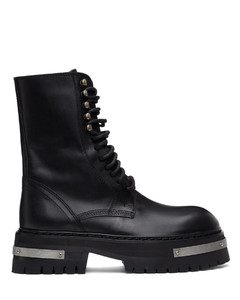 黑色Tucson Oversized Sole中筒靴