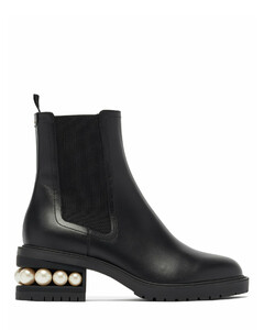 Casati faux-pearl heel leather Chelsea boots