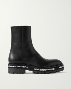 Sanford Logo-print Leather Ankle Boots
