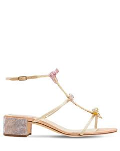 40mm Embellished Satin Sandals