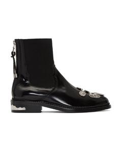 黑色五金踝靴