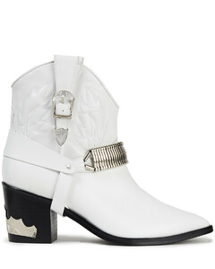 Pulla Woman Embellished Leather Ankle Boots