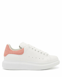 Oversized raised-sole leather trainers