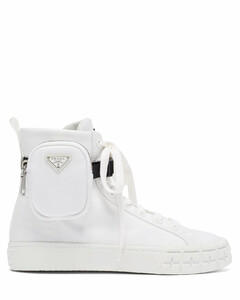 Wheel zipped-pouch high-top Re-Nylon trainers