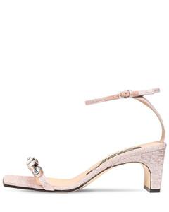 60mm Embellished Lurex Sandals