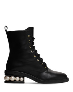 35mm Casati Leather Lace-up Boots