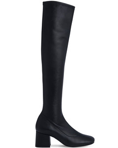 60mm Carlos Stretch Leather Tall Boots