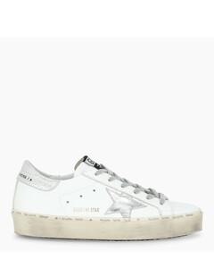 White/silver Hi-Star sneakers