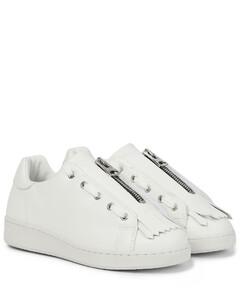 x A.P.C. Julietta皮革运动鞋
