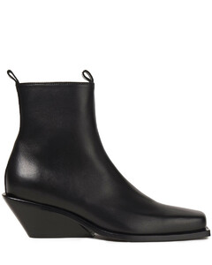 Woman Leather Wedge Ankle Boots