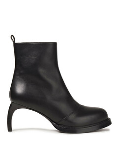 Woman Leather Platform Ankle Boots