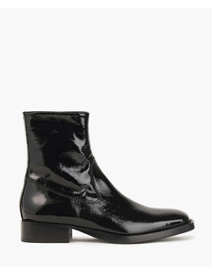 Woman Crinkled Patent-leather Ankle Boots