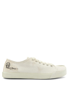 Tabi painted-canvas trainers