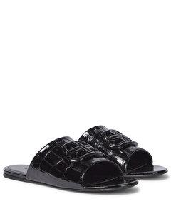 Oval BB皮革凉拖鞋