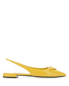 Yellow leather ballerinas
