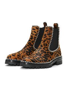 Spencer leopard print boots